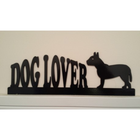Dog Lover Silhouette - Door/Window Topper Painted