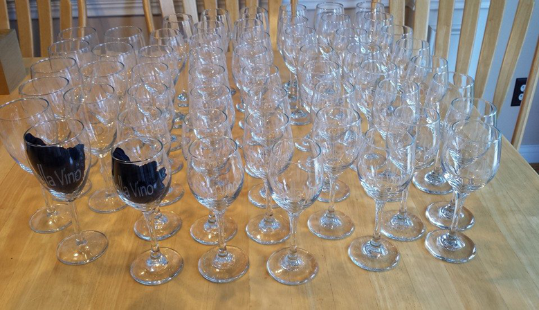 Wine Tasting Glasses Engraved with Logo